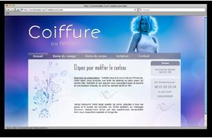 Site web pour coiffeur ou coiffeuse