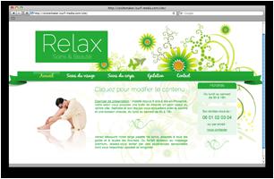 Site web pour esth�ticienne � domicile
