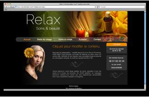 Site web pour institut de beaut�